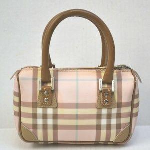 Burberry Mini Boston Bag Handbag Nova Check